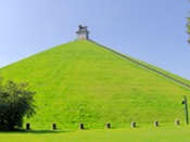 The famous 'butte' at the site of the Battle of Waterloo